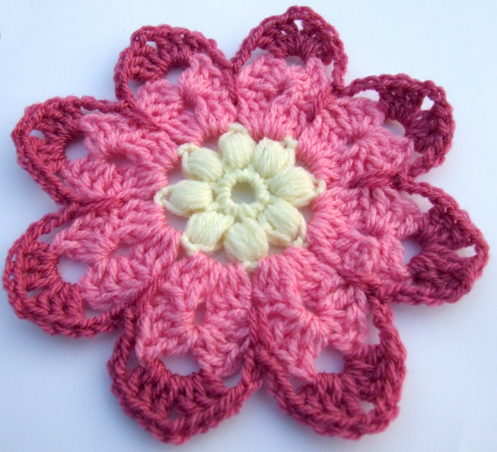 All Crochet Free Patterns : Free Crochet Pattern - Octagon Flower - leonie morgan