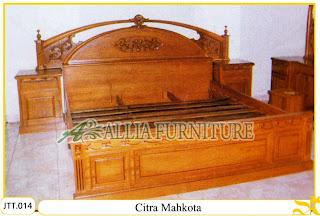 Tempat tidur kayu jati ukir jepara Cempaka Mahkota murah.Jakarta