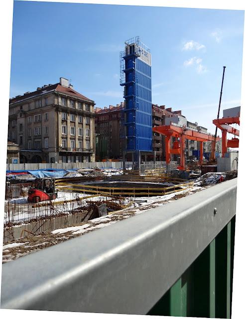 Stacja metra Dworzec Wileński w budowie