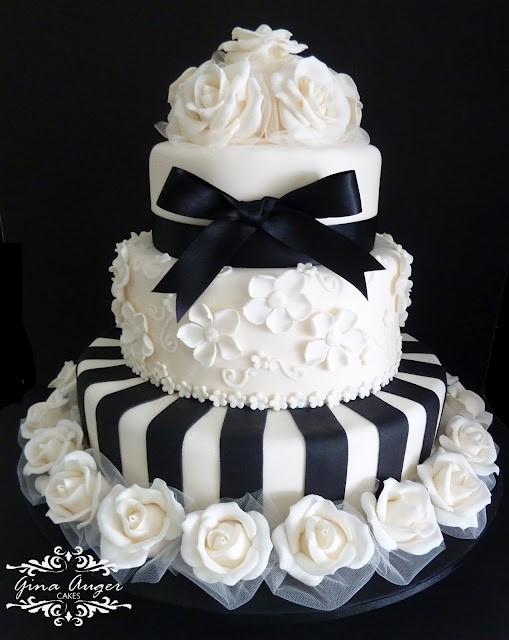 Wedding Cake Images Black And White : Amazing Black And White Wedding Cakes [40 Pic] ~ Awesome ...
