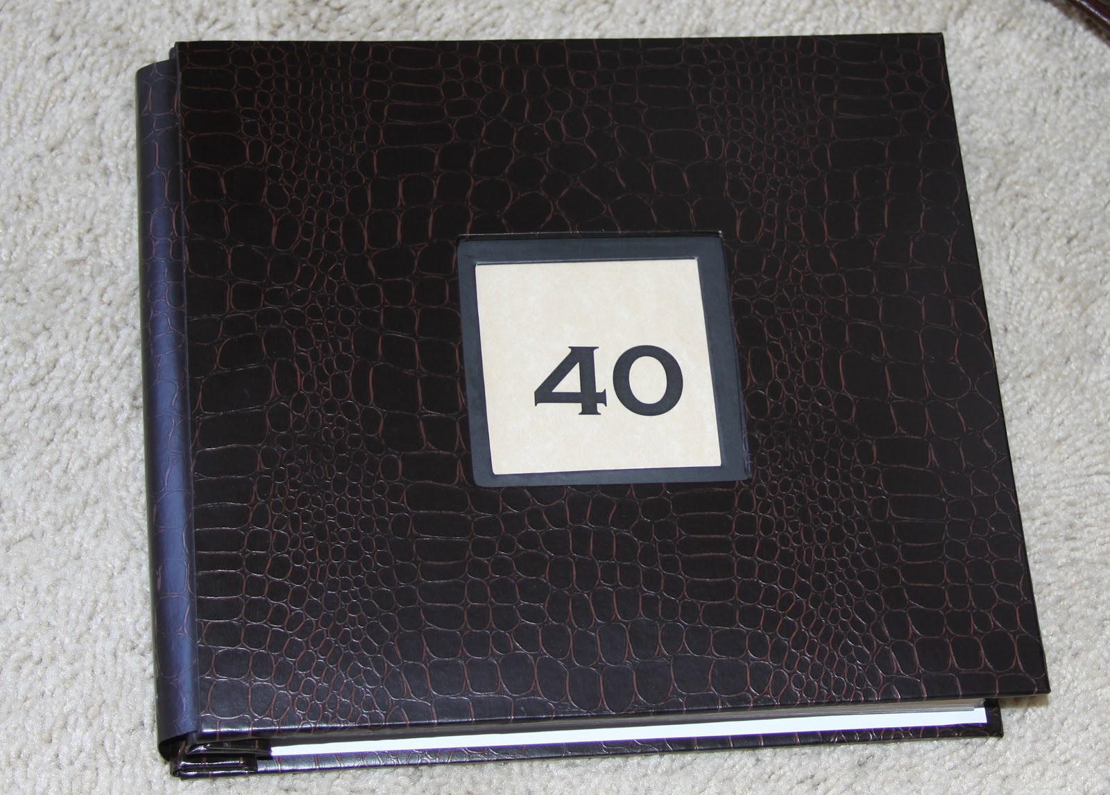 40th Birthday Bucket List Scrapbook