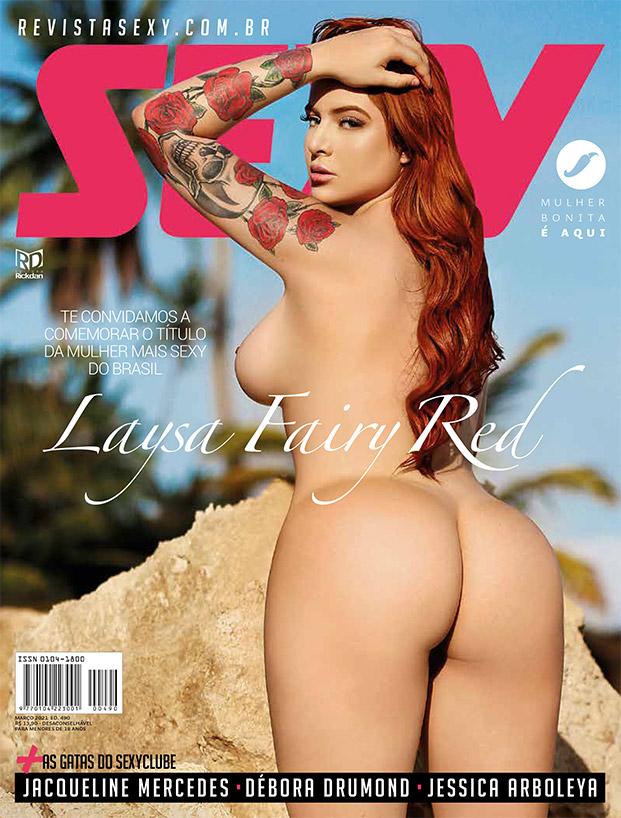 Revista Sexy Março 2021 - Laysa Fairy Red