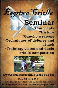 Esgrima Criolla Seminar in U.S.