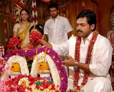 Jyothika in Karthi wedding stills