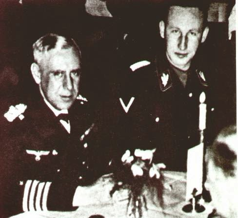 Image result for reinhard heydrich and admiral canaris