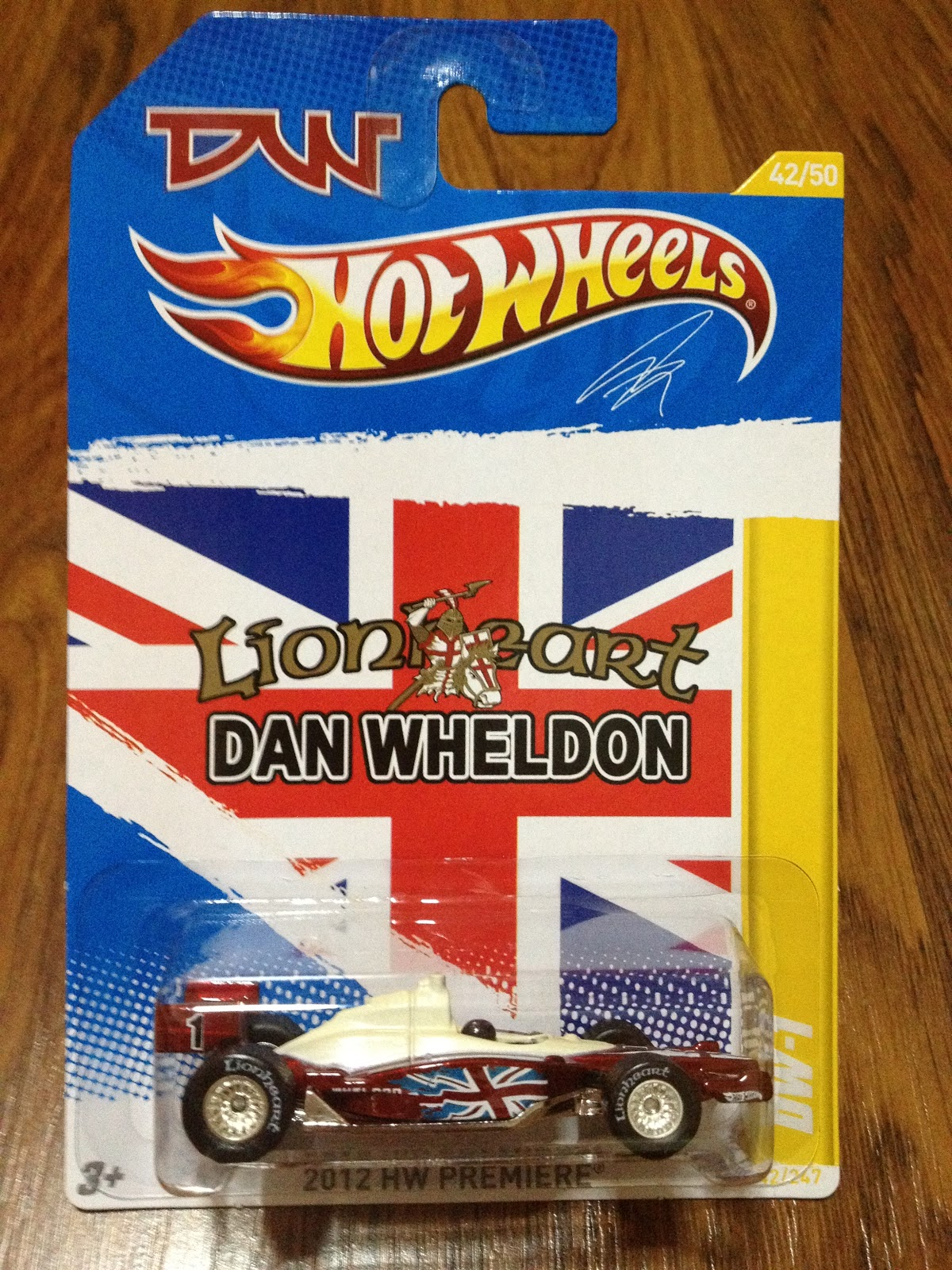 Hotwheels 2012 Secret Super Treasure Hunt Lionheart Dan Wheldon