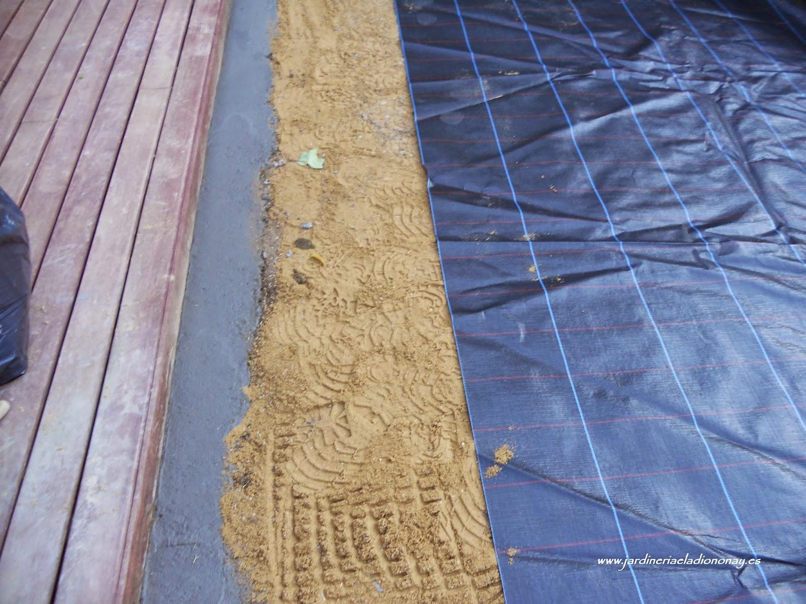 Jardineria eladio nonay como instalar c sped artificial - Como instalar cesped artificial sobre tierra ...
