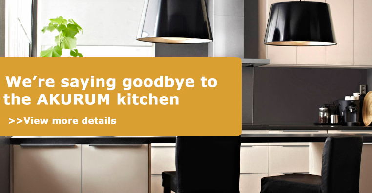 Ikea Is Discontinuing The AKURUM Cabinets That Have Been Around Since 1995  And Switching Over To Their New System, SEKTION, Starting Feb 2, 2015.