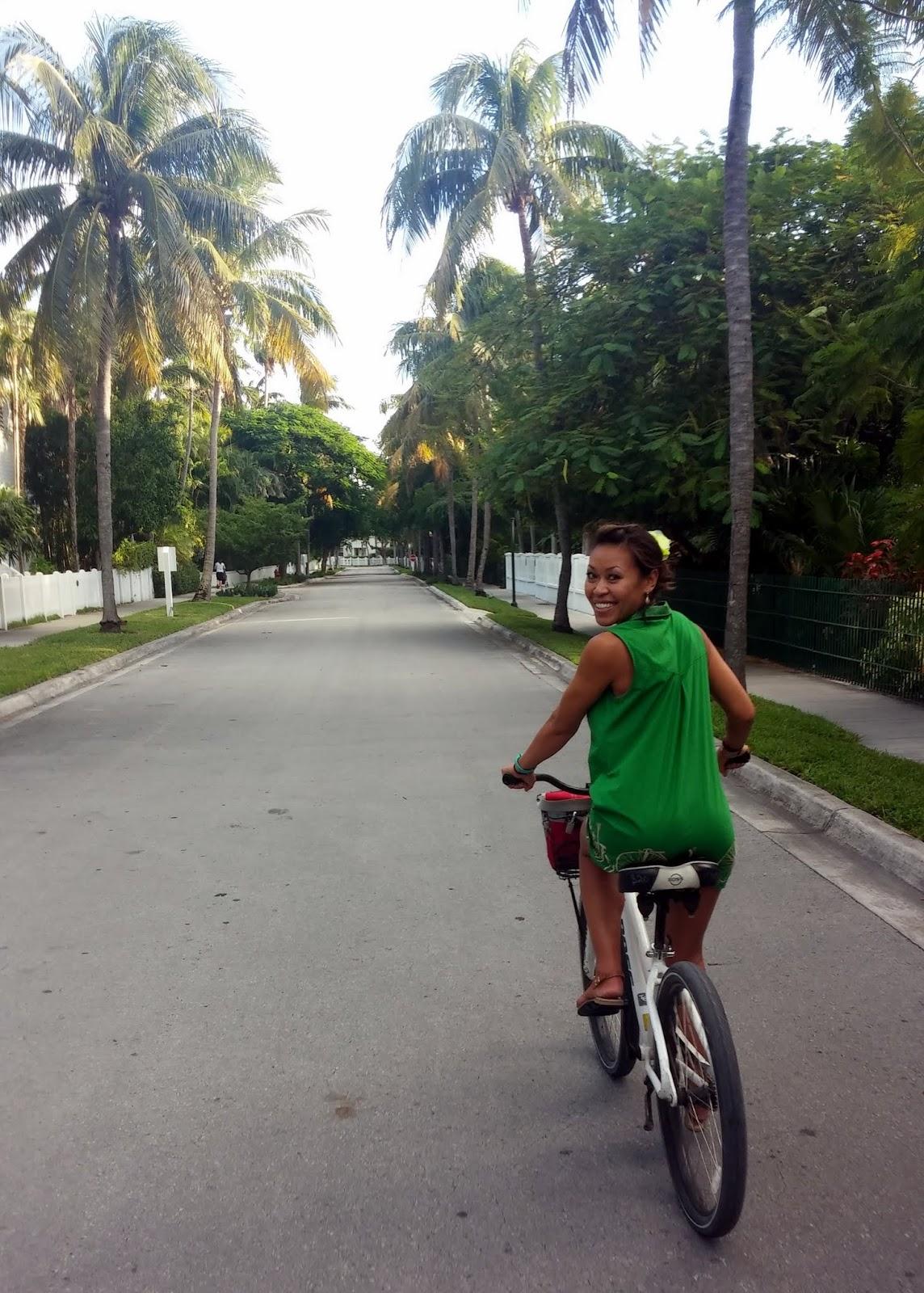 Girl on bike in Key West