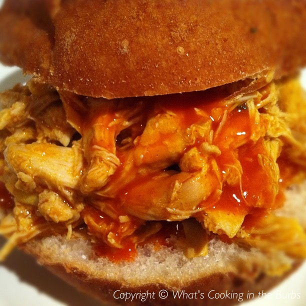 What's Cooking in the Burbs: Slow Cooker Buffalo Chicken Sandwiches