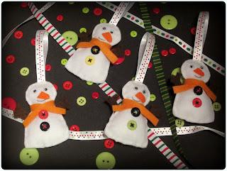 Muñecos de Nieve Fieltro - ChikiPol
