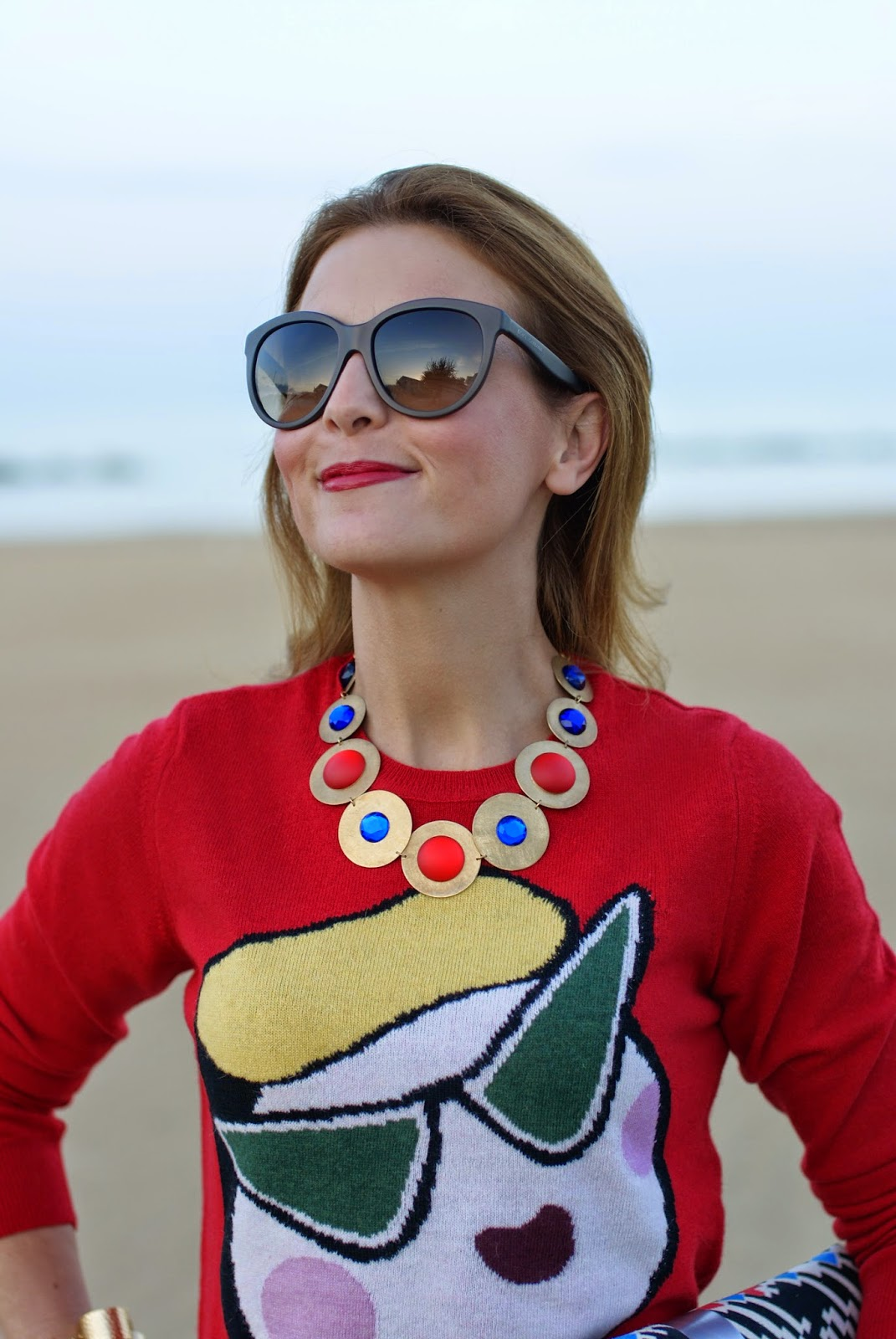 Love Moschino sweater, printed pencil skirt, Vitti Ferria Contin jewelry, Fashion and Cookies, fashion blogger