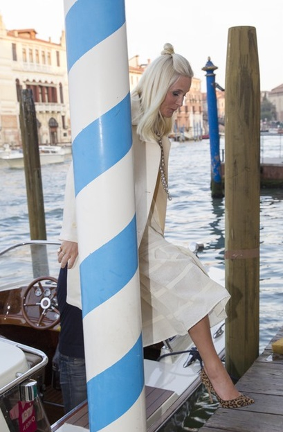 Crown Princess Mette-Marit of Norway opened the the Nordic Pavilion at the Venice Biennale in Venice.
