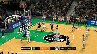 Turkish Airlines Euroleague Scoreboard in NBA 2K14