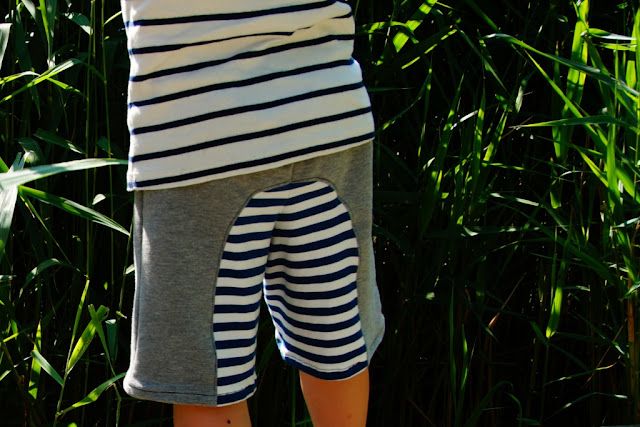 Surfer Shorts pattern By Rabbit Rabbit Creations, sewn by huisje boompje boefjes