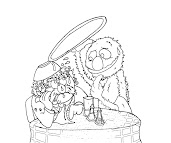 #8 Sesame Street Coloring Page