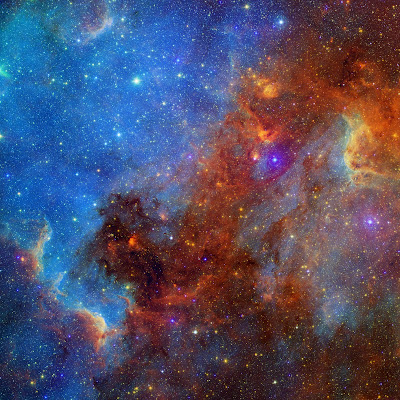 North American Nebula in Different Lights