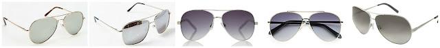 Urban Outfitters Classic Aviator Sunglasses $10.00 (regular $14.00)  A.J. Morgan Mission Sunglasses $18.00 (regular $24.00)  The Limited Wire Aviator Sunglasses $20.96 (regular $29.95)  Fossil 60MM Aviator Sunglasses $29.99 (regular $98.00)  Chloe Silver Aviator Metal CE107S Sunglasses $89.99 (regular $296.00)