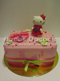 bolo aniversário kitty