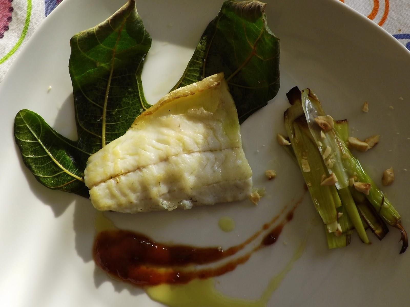 Shamira gatta lovely cake branzino alle foglie di fico di for Cucinare meduse