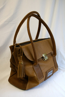 Light tan handmade holdall