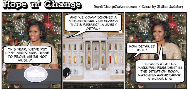 whitehouse, christmas, 2012, hope and change, stilton jarlsberg, benghazi, gingerbread, obama jokes, obama, conservative