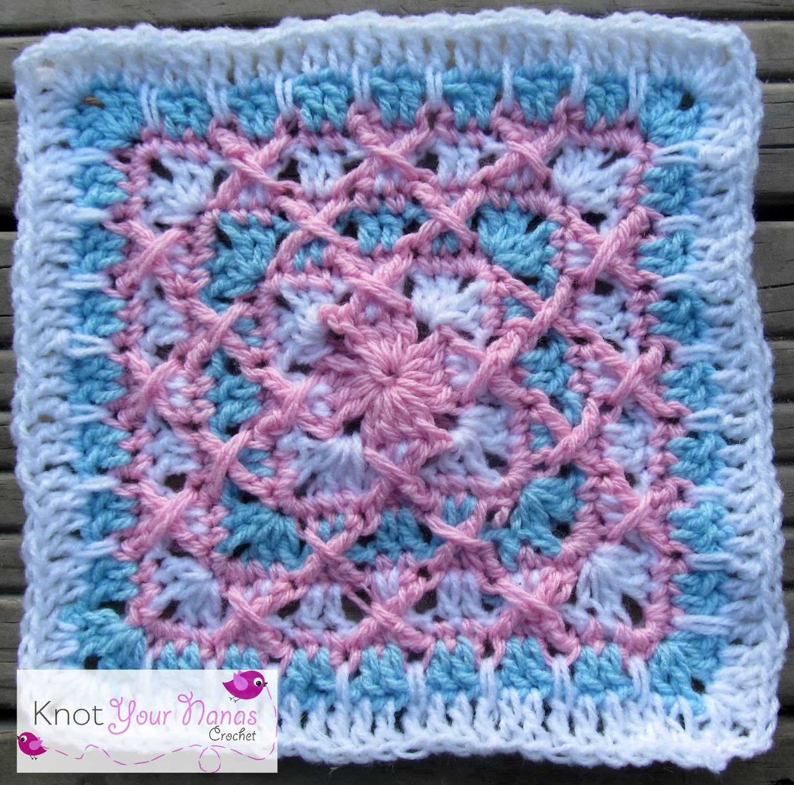 Crochet Kiss Stitch : Knot Your Nanas Crochet: Granny Square CAL (Week 16)