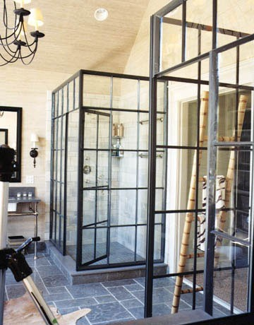 Industrial Shower Enclosures Are Fabulous; Whether Itu0027s Polished Nickel,  Aged Brass, Or A Salvaged Factory Window, I Absolutely Love The Look Of  These ...