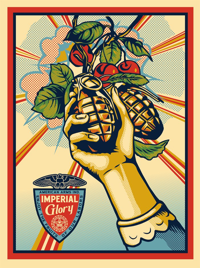 shepard fairey imperial glory new print available july 14th streetartnews streetartnews. Black Bedroom Furniture Sets. Home Design Ideas