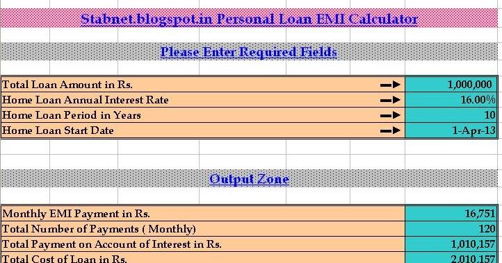 Personal Loan EMI Calculator Calculate Loan Interest Online