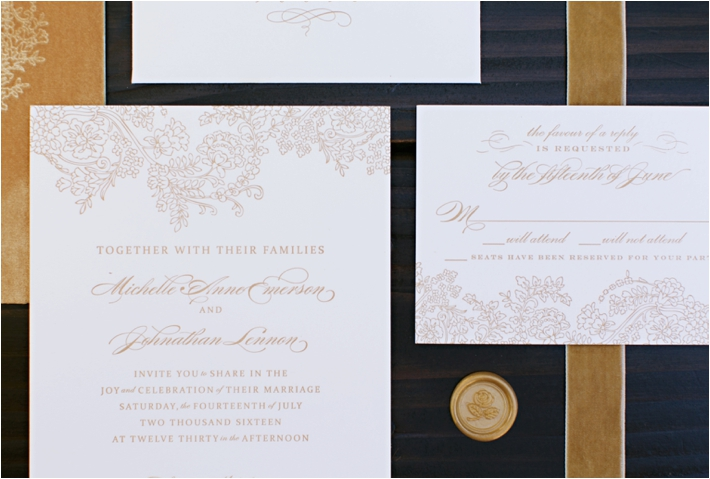 Rancho Las Lomas Wedding Inspiration | Custom Velvet & Letterpress Wedding Invitation | Damaris Mia Photography