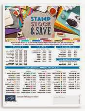Stamp, Stock, & Save Flyer