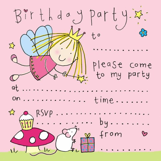 free printable fairy birthday party invitation