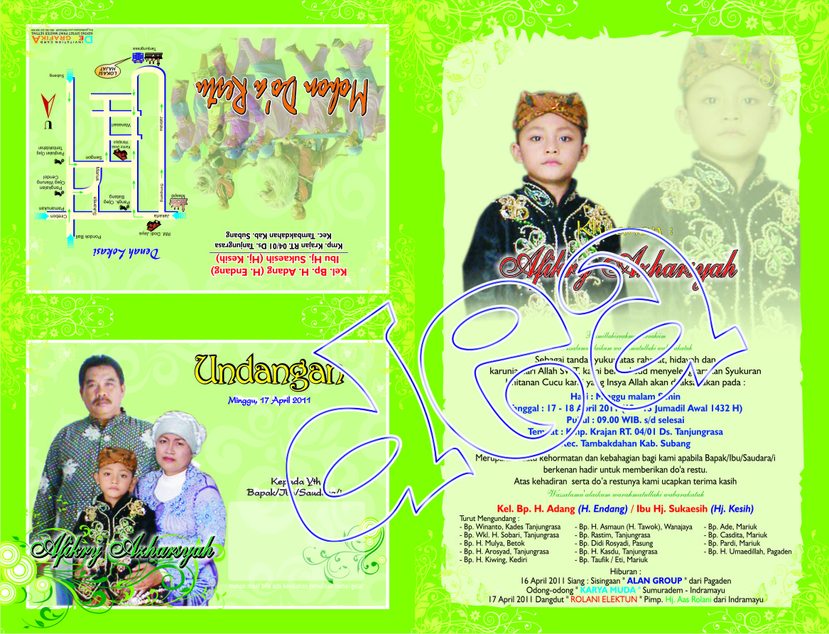 KodeS AP 08 Undangan Full Color CMYK / SPARASI Model Vector Hijau ...