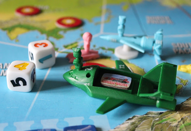Thunderbirds Co-operative Board Game - mounting a rescue with the recovery vehicles