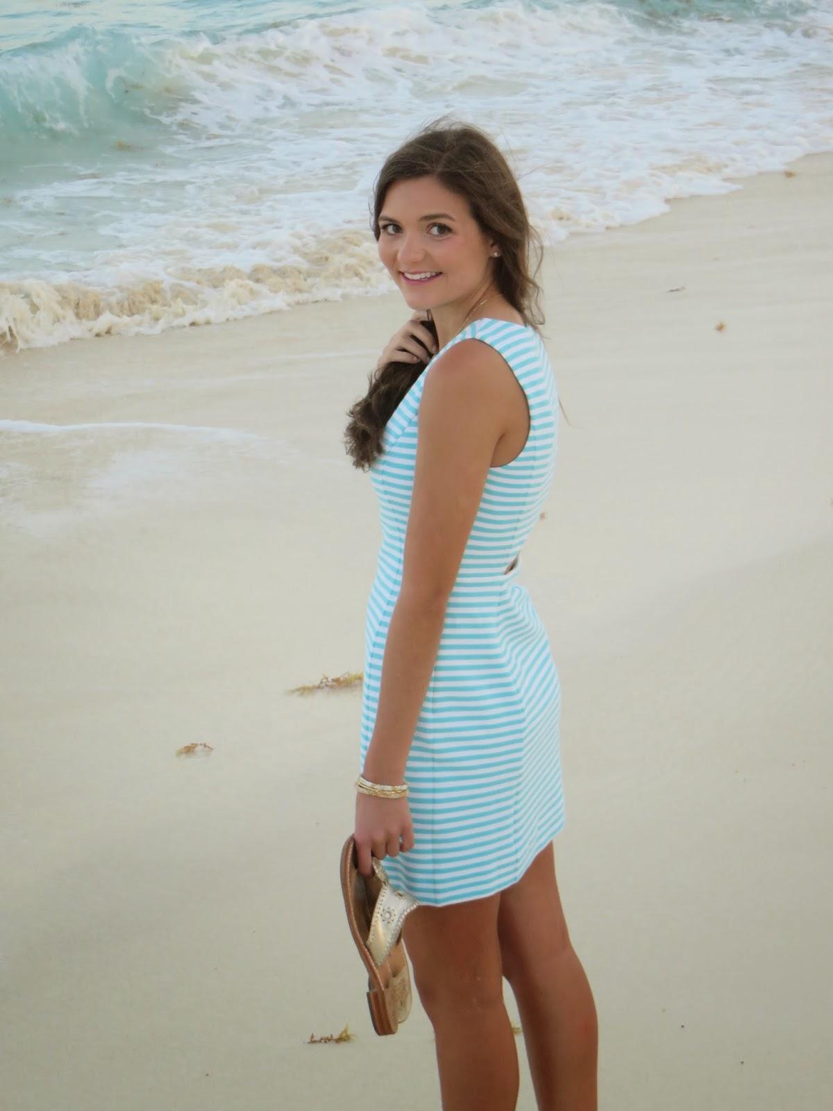 Lilly Pulitzer Whiting Cut-Out shift dress at Sandos Cancun