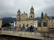 A view of the large church on the plaza here in Bogota. (bogata )