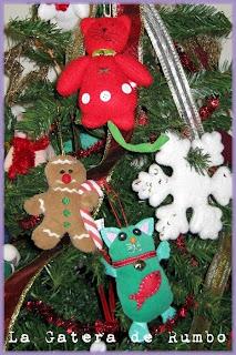 Adornos navideños felinos