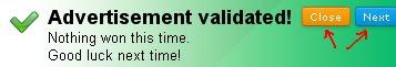 AdPrize validation