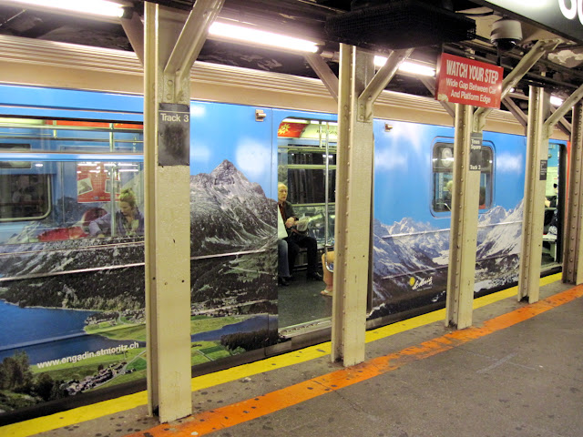 Get lost in a trip to Switzerland aboard these New in New York billboards on the subway