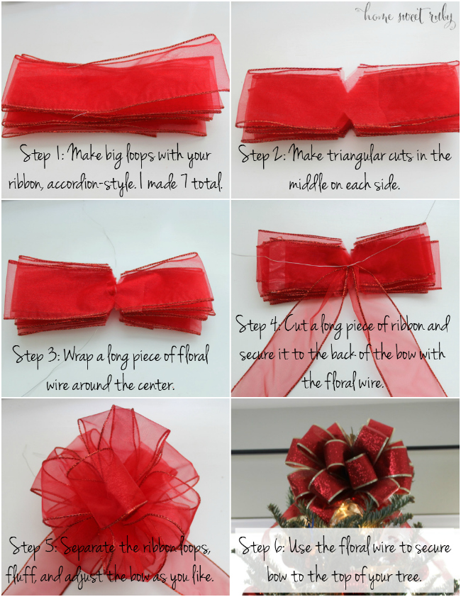 christmas tree bow tutorial