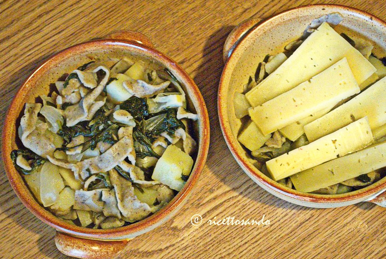 Pizzoccheri valtellinesi ricetta tradizionale farciamo con bitto o casera
