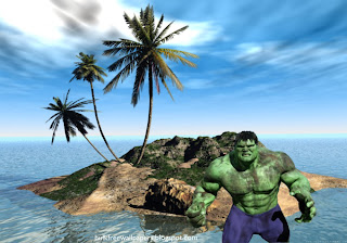The Incredible Hulk Desktop Wallpaper The Incredible Hulk Fighting in 3D Island Desktop wallpaper