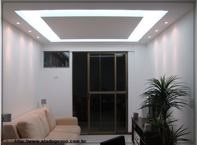 Sala De Tv Com Teto De Gesso ~ de luz fica muito bem em salas de estar como na foto ou em salas de