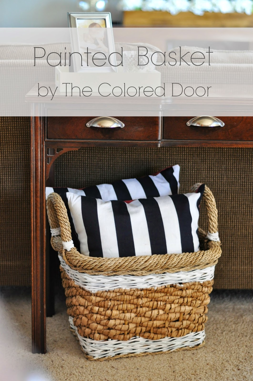 Painted basket - the colored door