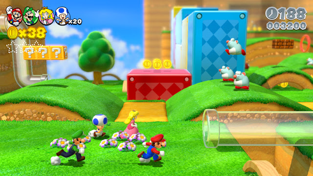 Screenshot of Wii U game Super Mario 3D World