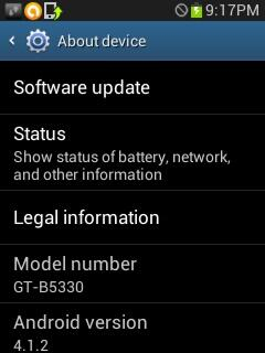 Samsung Galaxy Chat gets a Android 4.1.2 Jelly Bean update, go get the update