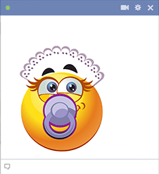 Baby emoticon with pacifier