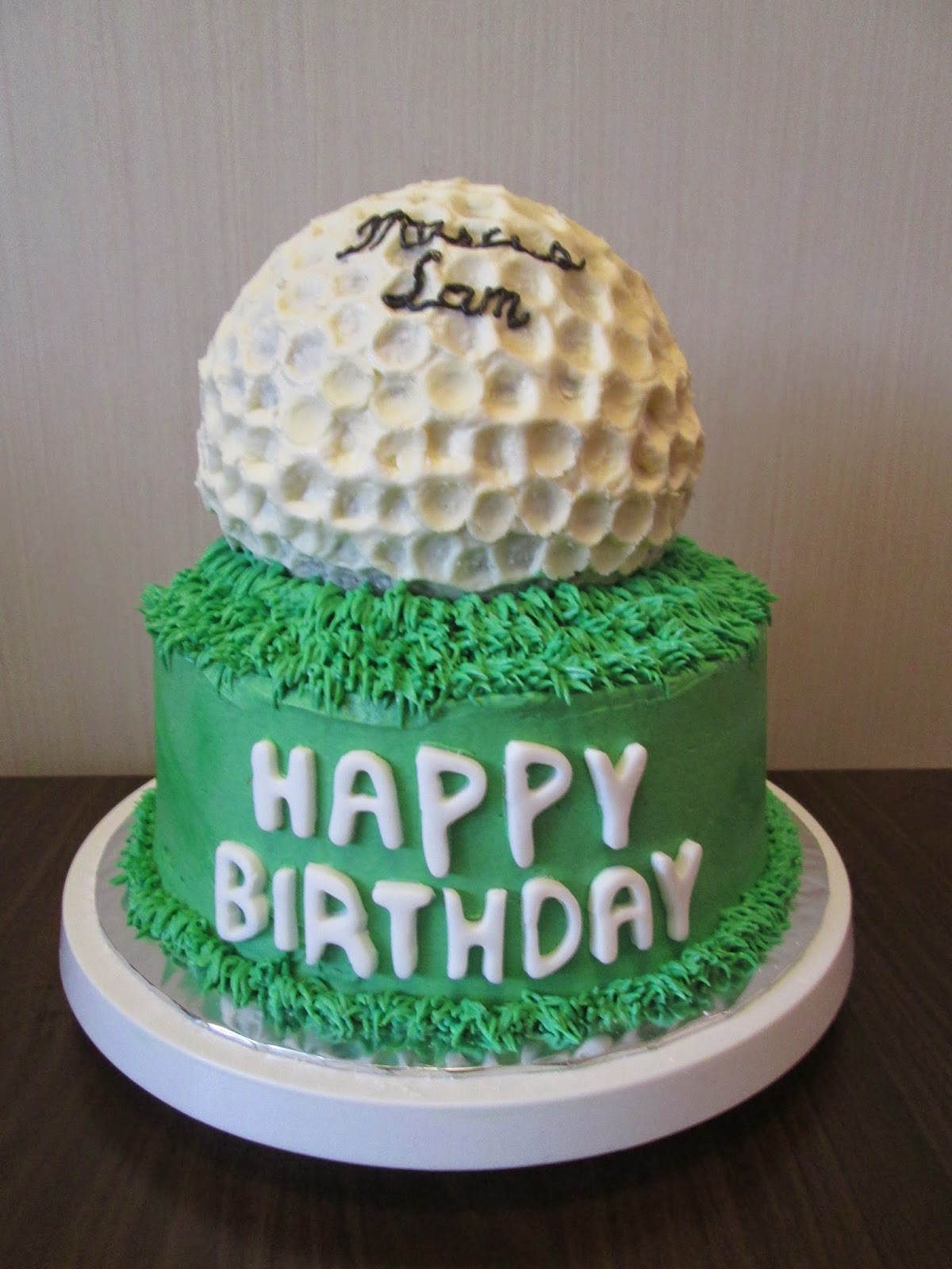 Golf Ball Cake Crissas Cake Corner