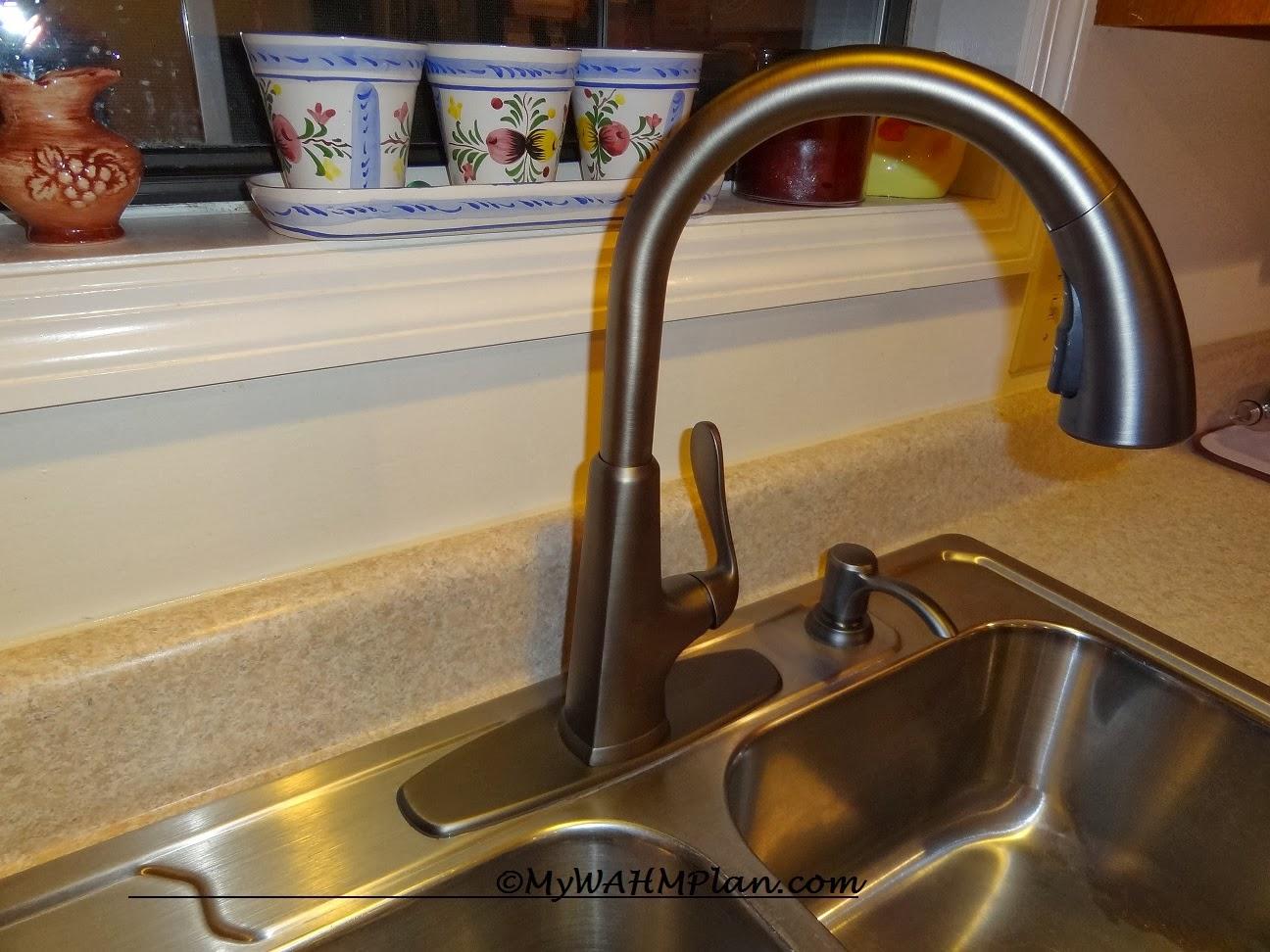 Sparkling clean kitchen sink